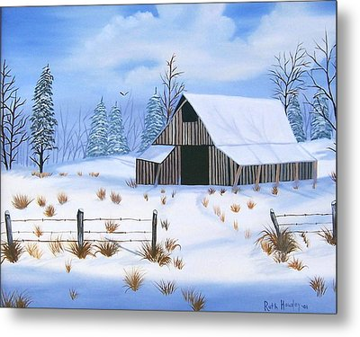 Early Snowfall Metal Print by Ruth  Housley