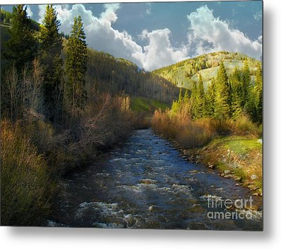 Early Spring Delores River Metal Print by Annie Gibbons
