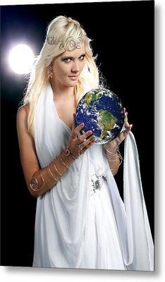 Earth Angel Metal Print by Cindy Singleton