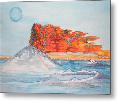 Metal Print featuring the painting Earth In Action by Connie Valasco