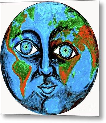 Earthface Metal Print