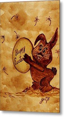 Easter Golden Egg For You Metal Print by Georgeta  Blanaru