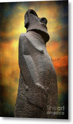 Easter Island Moai Metal Print by Adrian Evans