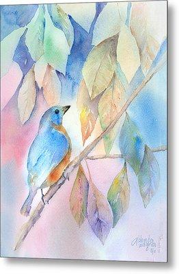 Eastern Bluebird Metal Print by Arline Wagner