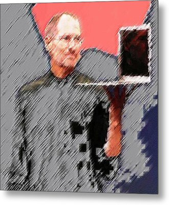 Eaten Apple Of Steve Jobs Metal Print