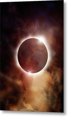 Eclipse Aura Metal Print