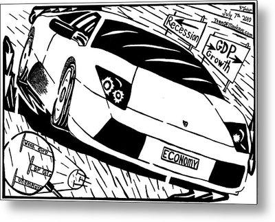 Economy In High Gear By Yonatan Frimer Metal Print by Yonatan Frimer Maze Artist