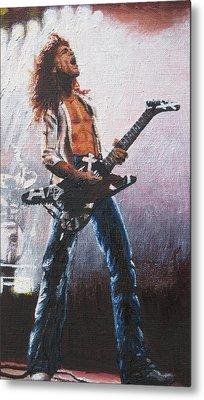 Eddie Van Halen Metal Print by Rick Yanke