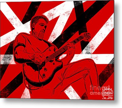 Eddie Van Halen Metal Print by Stacy Bearden