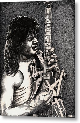 Eddie Vanhalen Metal Print by Kathleen Kelly Thompson