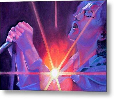 Eddie Vedder And Lights Metal Print