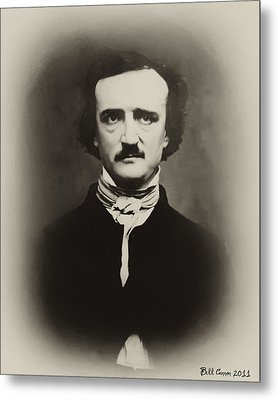 Edgar Allen Poe Metal Print by Bill Cannon
