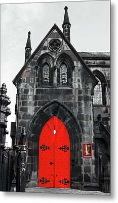 Edinburgh Door Metal Print by Martina Fagan