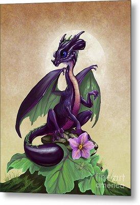 Eggplant Dragon Metal Print by Stanley Morrison