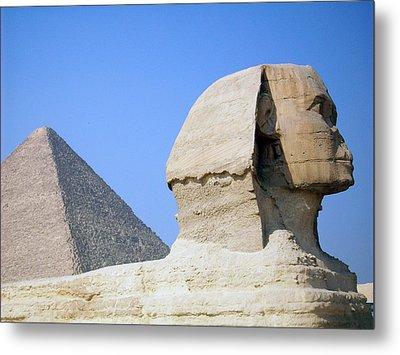 Egypt - Pyramids Abu Alhaul Metal Print by Munir Alawi