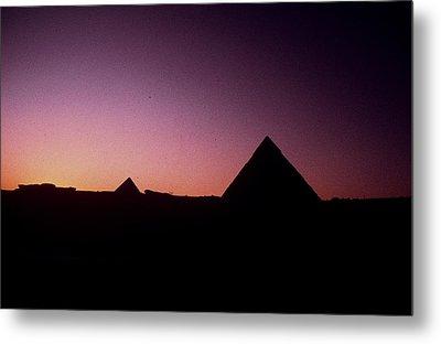 Egyptian Sunset Metal Print by Gary Wonning