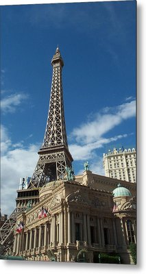 Eiffel Tower Las Vegas Nevada Metal Print by Alan Espasandin
