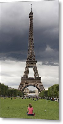 Eiffel Tower. Paris Metal Print by Bernard Jaubert