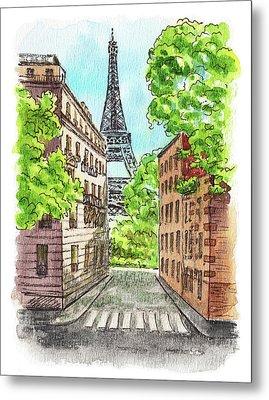 Eiffel Tower Summer Paris Day Metal Print