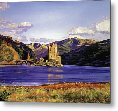 Eilean Donan Castle Metal Print by David Lloyd Glover