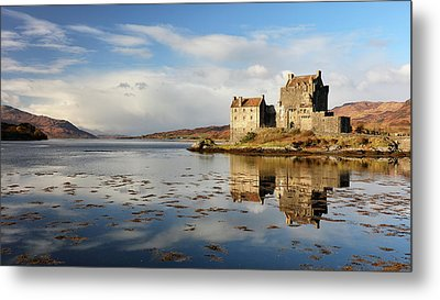 Metal Print featuring the photograph Eilean Donan - Loch Duich Reflection - Dornie by Grant Glendinning