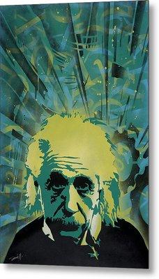 Einstein Metal Print by Tai Taeoalii