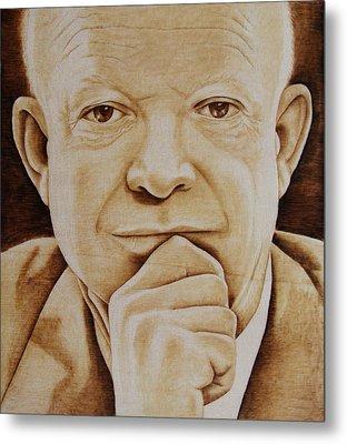 Eisenhower - The Man  Metal Print by Jo Schwartz
