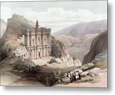 El Deir Petra 1839 Metal Print by Munir Alawi