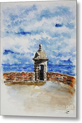 El Morro. The Castle Of San Felipe Del Morro In San Juan  Metal Print by Zaira Dzhaubaeva