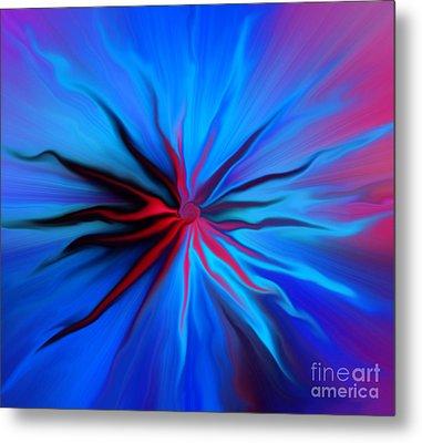 Electric Blue 2 Metal Print by Trena Mara