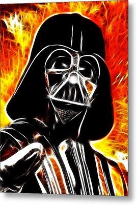 Electric Darth Vader Metal Print by Paul Van Scott