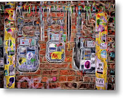 Electric Meters Metal Print by Spencer McDonald