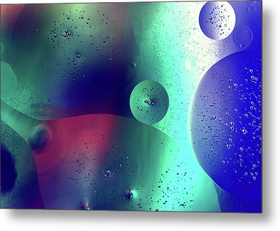 Metal Print featuring the photograph Electric Oil Droplets Number One by John Williams