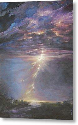Electric Sky Metal Print by Dina Dargo