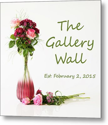 Metal Print featuring the photograph Elegance-the Gallery Wall Logo by Wendy Wilton