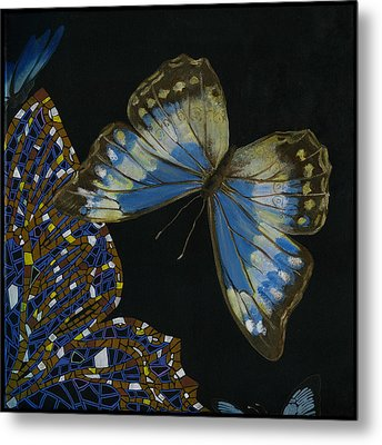 Elena Yakubovich - Butterfly 2x2 Top Right Corner Metal Print by Elena Yakubovich