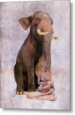 Elephant In The Room Metal Print