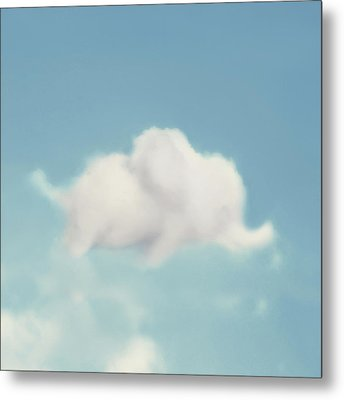 Elephant In The Sky - Square Format Metal Print