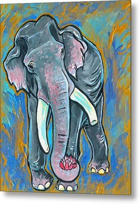 Elephant Spirit Dreams Metal Print by Jenn Cunningham