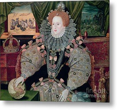 Elizabeth I Armada Portrait Metal Print by George Gower