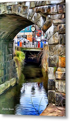Ellicott City Bridge Arch Metal Print by Stephen Younts