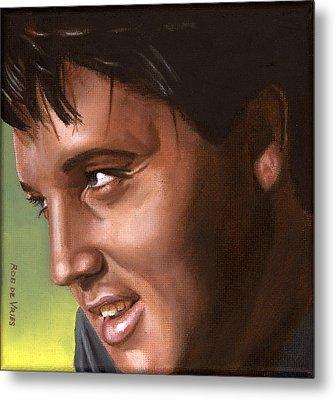 Elvis 24 1966 Metal Print by Rob De Vries