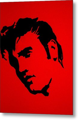 elvis on the set of True Blood Metal Print by Robert Margetts