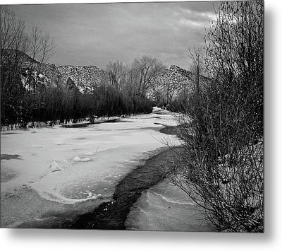 Metal Print featuring the photograph Embudo In Winter by Atom Crawford