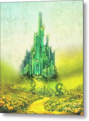 Emerald City Metal Print by Mo T