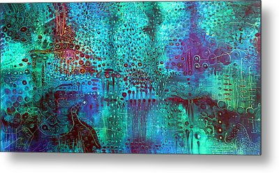 Emerald World Metal Print by Lolita Bronzini