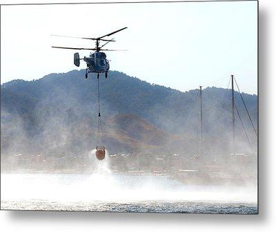 Emergency Helicopter Metal Print by Svetlana Sewell