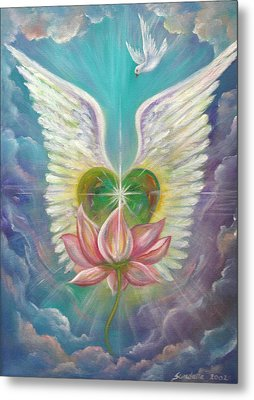Emerging Love Opening Heart Metal Print by Sundara Fawn