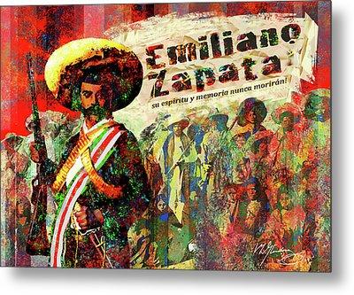 Emiliano Zapata Inmortal Metal Print by Dean Gleisberg