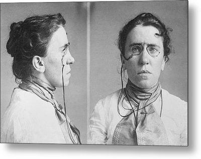 Emma Goldman 1869-1940 Mugshots. She Metal Print by Everett